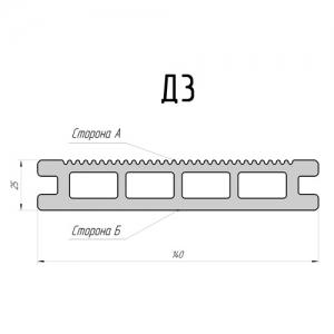 Доска террасная DeckingLINE Premium Д3