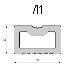 Лага монтажная DeckingLINE Premium (коричневая)
